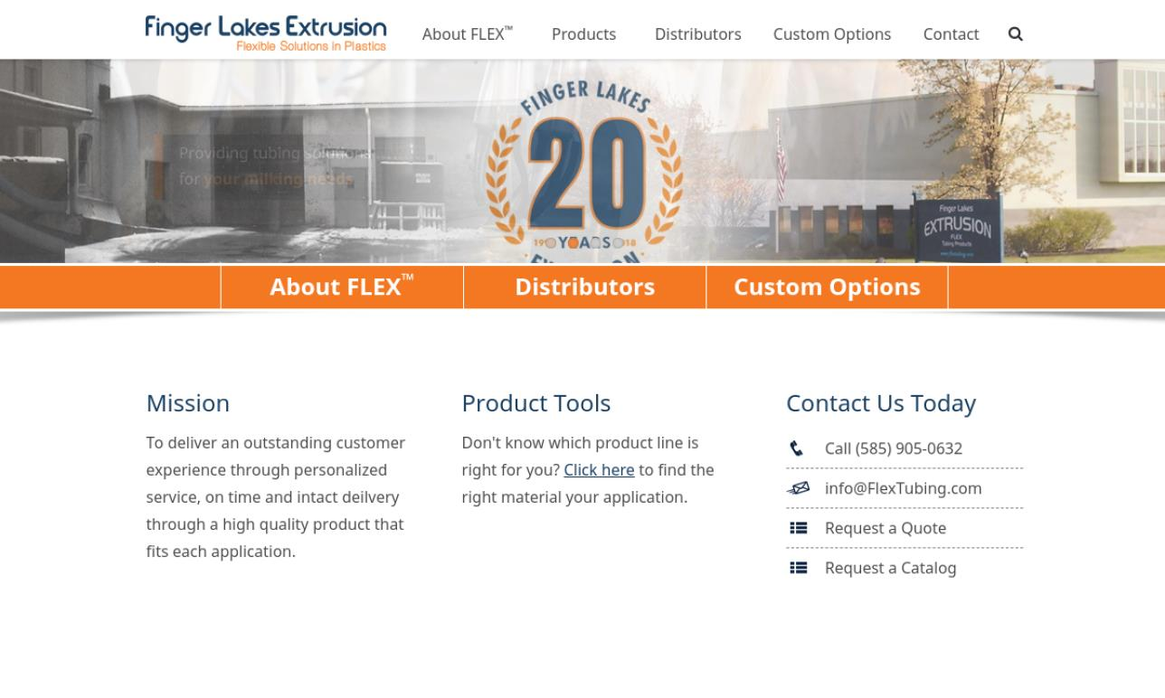 Finger Lakes Extrusion - FLEX Tubing Products